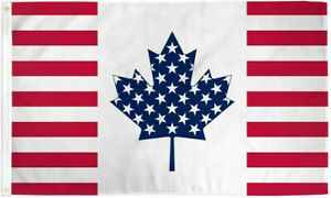 USA-amp-Canada-Friendship-3x5ft-Poly-Flag-America-and-Canada