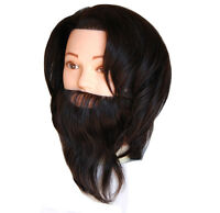 Usa Seller 100% Human Hair Handsome Man Male Cosmetology Mannequin Head Xx