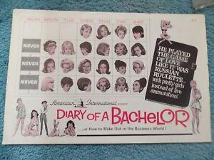 DIARY-OF-A-BACHELOR-1964-WILLIAM-TRAYLOR-ORIGINAL-PRESSBOOK