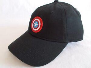 bdb117f52f86a NWT VANS Marvel CAPTAIN SHIELD HAT Adjustable 6-Panel Cap BLACK ...