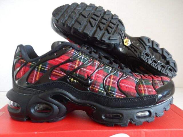 5f23bcdc4d Nike Womens Air Max Plus TN SE Tartan Black University Red Av9955 ...