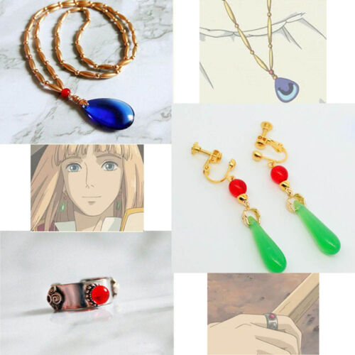 Howl/'s Moving Castle Howl Cosplay Necklace Pendant Amulet Earring Ring Gift