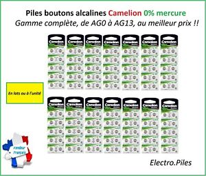Battery-Cells-Button-Camelion-Alkaline-AG0-AG13-1-5V-Free-Shipping