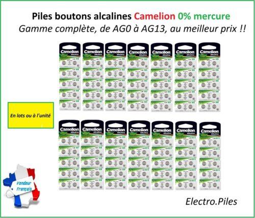 -zellen Knopf Camelion Alkalisch AG0//AG13 1.5V Free Shipping Batteries