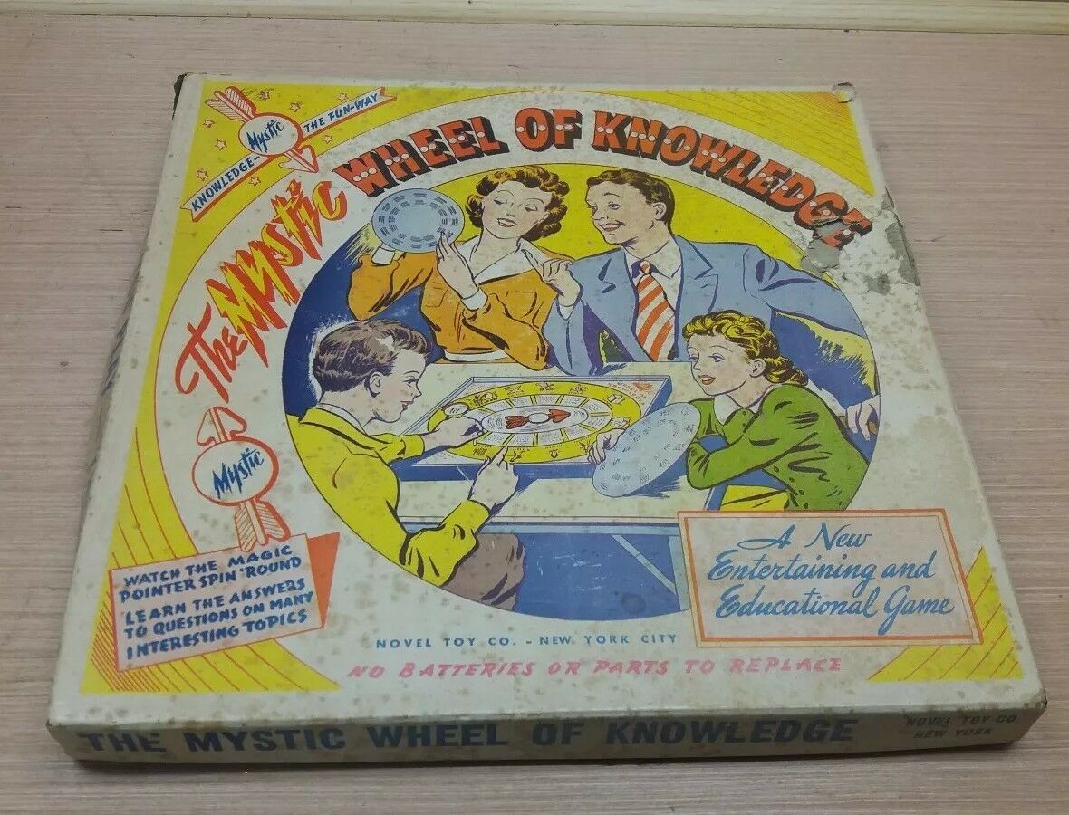 1940's Mystic Wheel Of Knowledge Juego - Rare - New Old Stock