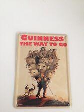 Guinness Bier - SCHAFE WAY TO GO -  Mini Blechschild Blechkarte Irland Sign 7