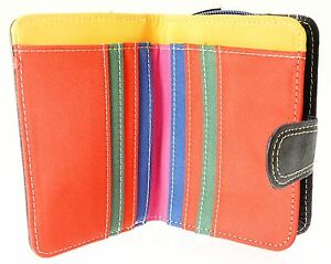 Ladies-Nappa-Leather-Wallet-Purse-amp-Credit-Card-Holder-With-Zip-Up-Coin-Purse
