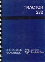 Leyland 272 Tractor Operator Handbook Manual Instructions Book