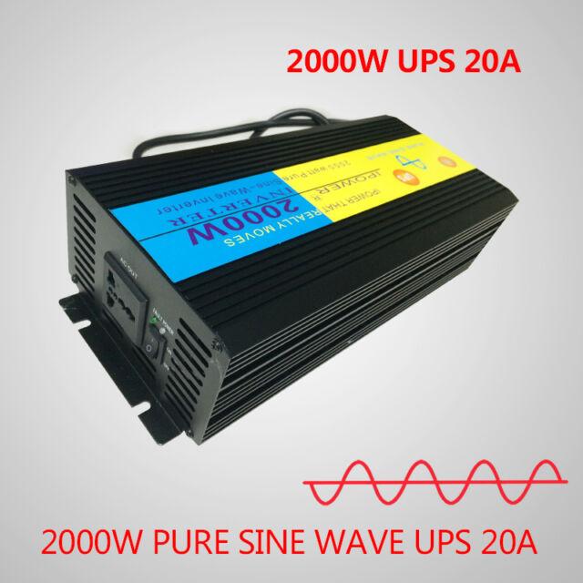 Seneste 2000w Pure Sine Wave Power Inverter 12v DC to 220v - 240v AC Lcd EC45