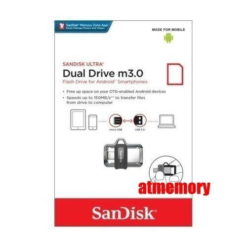 Sandisk Ultra Dual Drive 16GB 32GB 64GB 128GB 256GB OTG m3.0 lot USB Flash Drive
