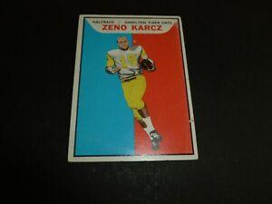 ZENO-KARCZ-15-HALFBACK-TIGER-CATS-HAMILTON-CARD-TOPPS-52-CFL-1965-FOOTBALL