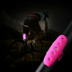 Bicycle Rear Tail Light Helmet Lamp Waterproof Rechargeable USB LED Bike Cycling