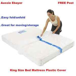 King Size Bed Mattress Protect Plastic Cover Moving Storage Bag Ebay