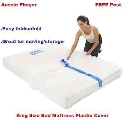 King Size Bed Mattress Protect Plastic Cover Moving Storage Bag