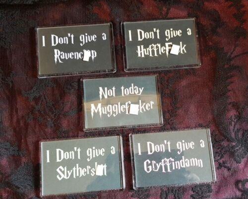 """Funny Harry Potter /""""House Names/"""" Meme Jumbo Fridge Magnet"""