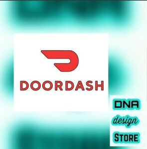 2x-DoorDash-Window-Decal-car-vinyl-truck-sticker-FREE-SHIPPING