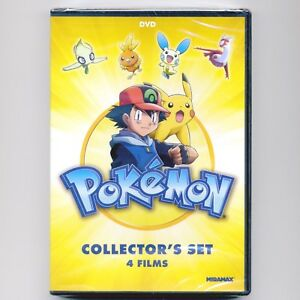 4-Kids-039-animated-G-movies-Pokemon-Collectors-Set-new-DVDs-over-5-hours-Dove
