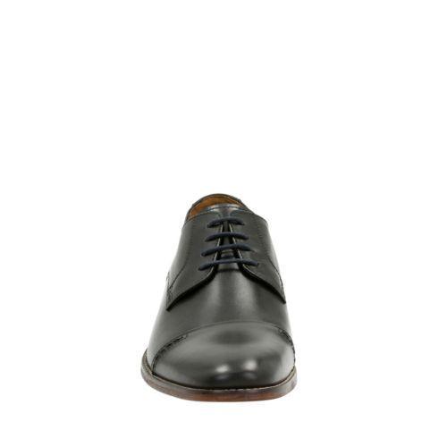 NEW CLARKS BOSTONIAN TILDEN WALK BLACK COMFORT LEATHER LACE UP DRESS COMFORT BLACK SHOES 10310 043291
