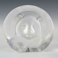 Mats Jonasson Glass Bear Paperweight - Signed + Label