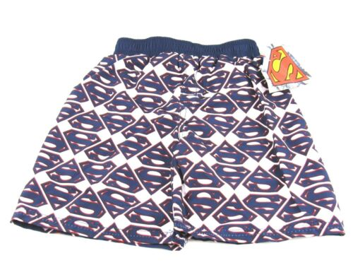 Dc Comics Toddler Boys Superman Swim Trunks Navy//White Size 4T New