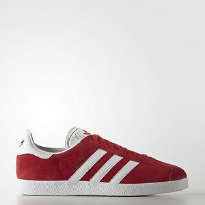Adidas Uomo Man Sneakers Originals Leather Red Scarpe Rosso S76228 Gazelle Shoes OrnqRwOU