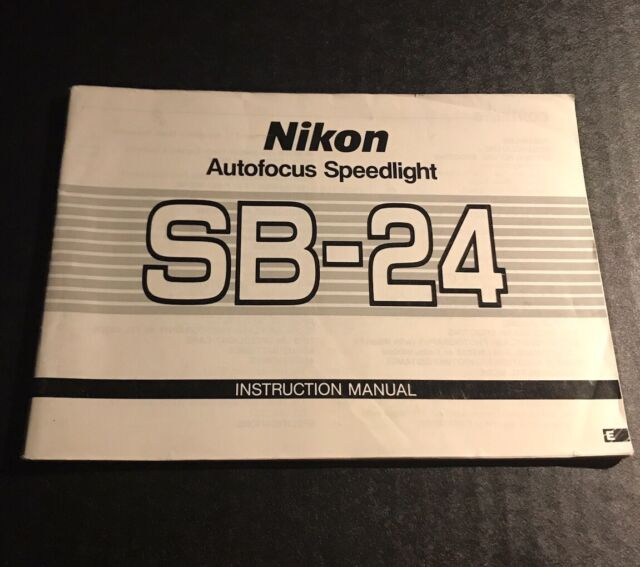 Nikon speedlight sb-24: review for strobists – light and matter.