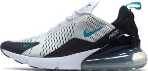 Hommes-Nike-Air-Max-270-Baskets-Blanc-Noir-Vert-AH8050-001-UK-8-5