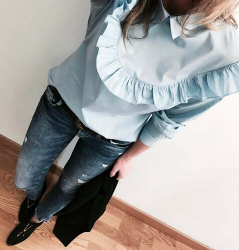 S Shirt Size Sold Blue Small Bloggers Boho Out Blouse q6Uv07w