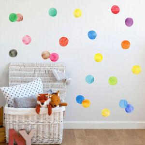 30 Pcs Watercolour Dots Wall Stickers Nursery Decor Removable Vinyl Decal Art