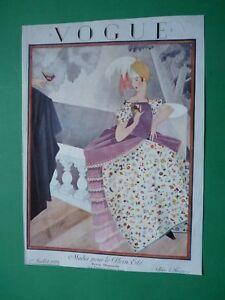 Vogue-Paris-Magazine-1-Juillet-1924-July-Original-Cover-Only-Art-Deco-Plank-Rare