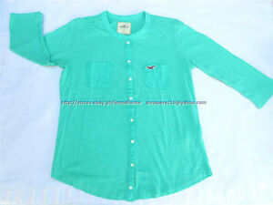 70-OFF-AUTH-HOLLISTER-WOMEN-POCKET-LOGO-3-4-SLEEVES-TEE-LARGE-BNEW-US-29-5