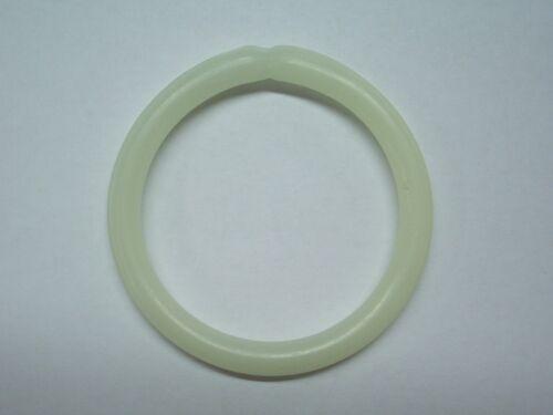 Bissanzeiger Ring fluoreszierend 6,5 cm