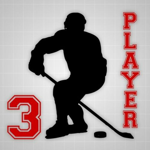 Hockey player vinyl wall sticker,Hockey silhouette Varsity style name stickers