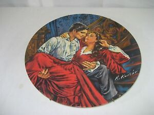 Gone-With-The-Wind-Collector-Plate-Scarlet-amp-Rhett-Signed-1978-Ltd-Ed-Knowles