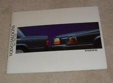 Volvo Saloons Brochure 1989 - 240 DL GL GLT 740 760 GL SE Turbo Diesel GLE Turbo