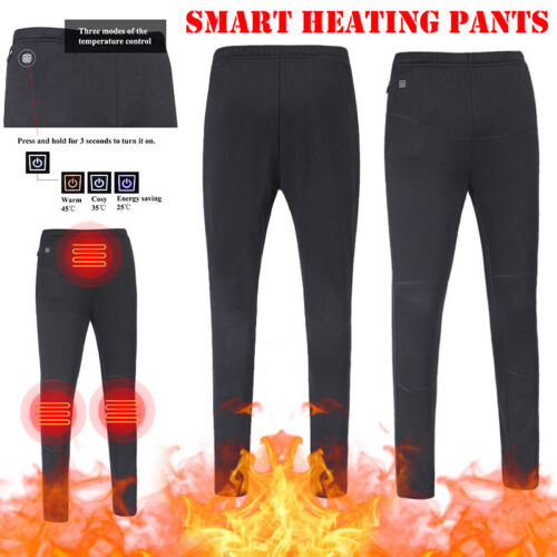 Electric Heated Trousers Heater Warm Winter USB Pants Women Men Leisure