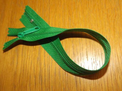 """10/"""" Zip Fermeture éclair vert émeraude Grand Extracteur pour sac à main Artisanat #3 Fermé Fin"""