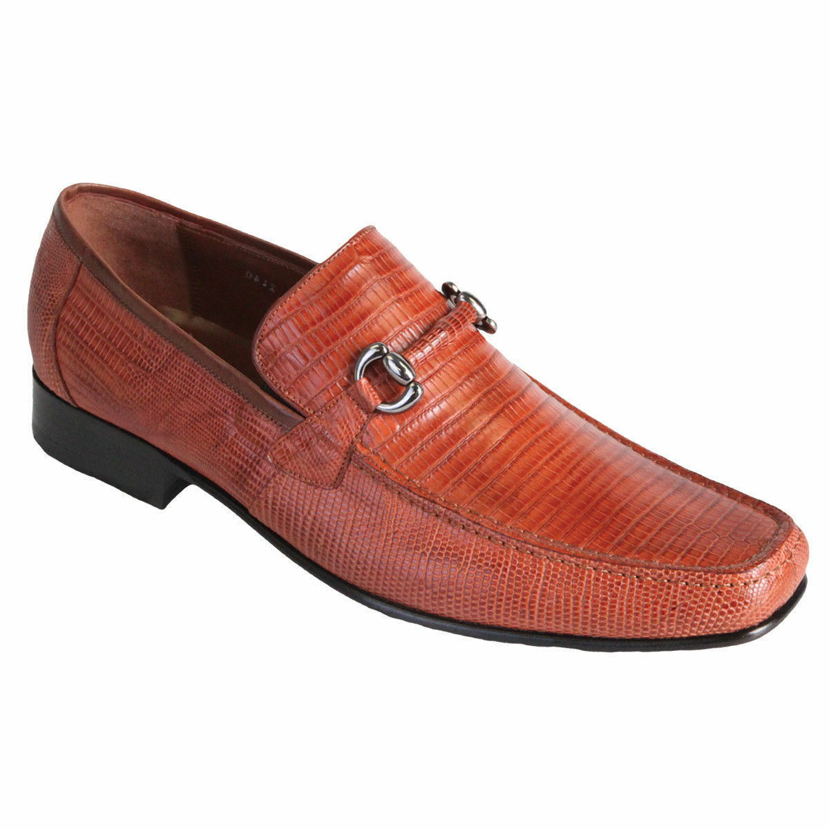 Los Altos Altos Altos Men's Cognac Genuine Teju Lizard Dress scarpe Casual Slip On Loafer D 8c63d5