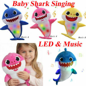 2019-Baby-Shark-Plush-Singing-Toys-LED-amp-Music-Doll-English-Song-Toy-For-Kids-Gift