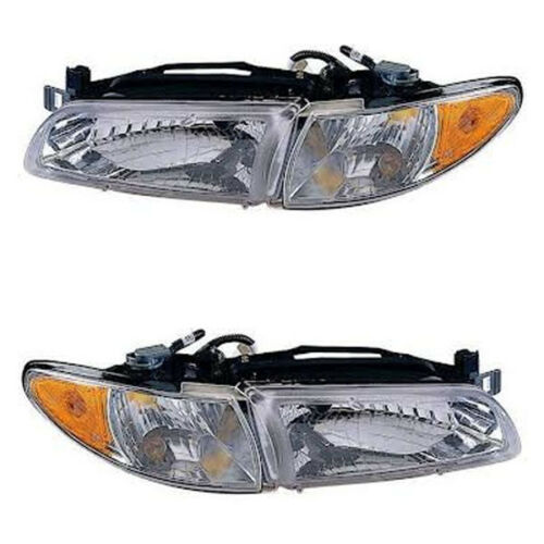97-03 Grand Prix Headlight Headlamp DOT Head Light Lamp Left Right Side Set PAIR