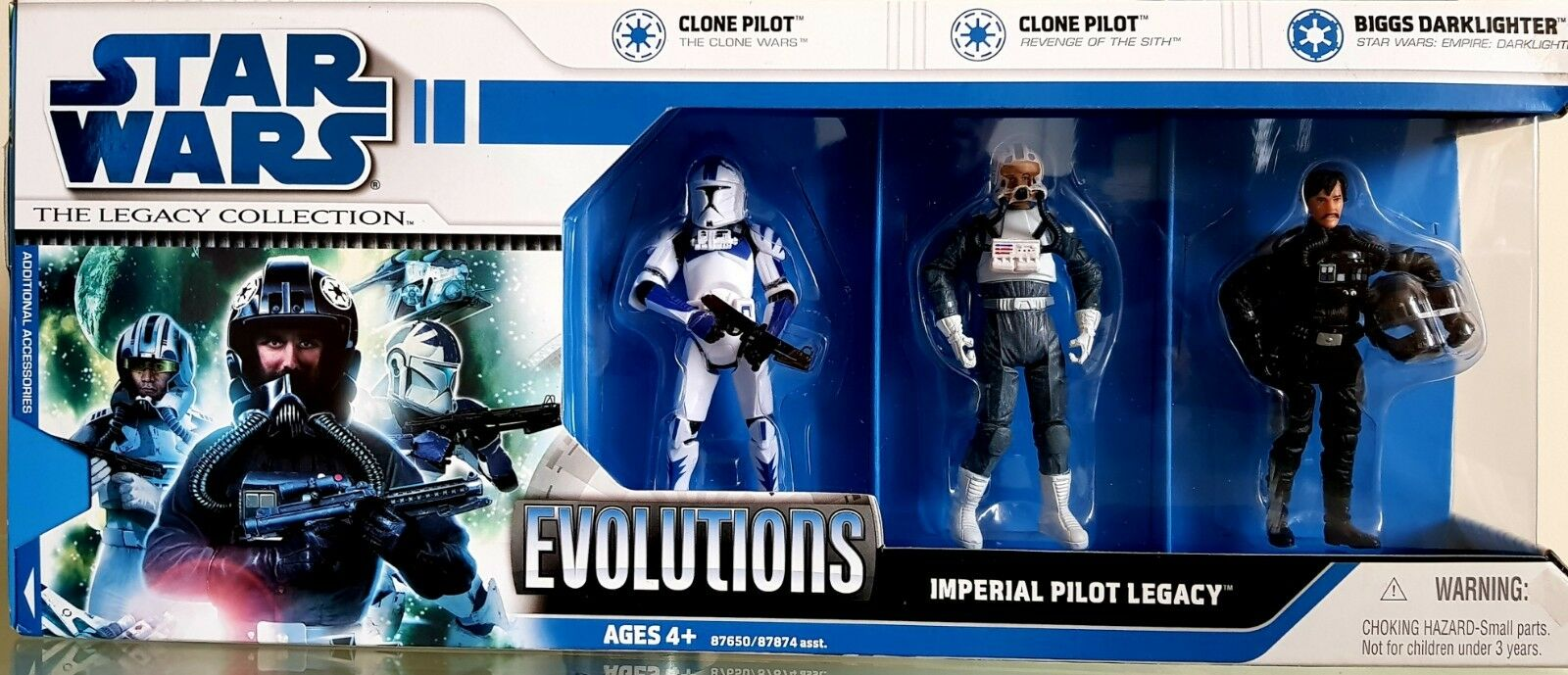 Star Wars Imperial Pilot Figures NEW  Legacy Collection 2008