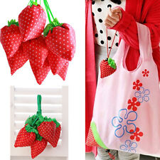 Hot Eco Handbag Strawberry Foldable Shopping Tote Bags Reusable Bag One colors