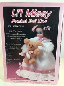 NEW Vintage Li'l Missy Beaded Doll Kits SLEEPYTIME 513 - Lil Girl w/ Bear 13390