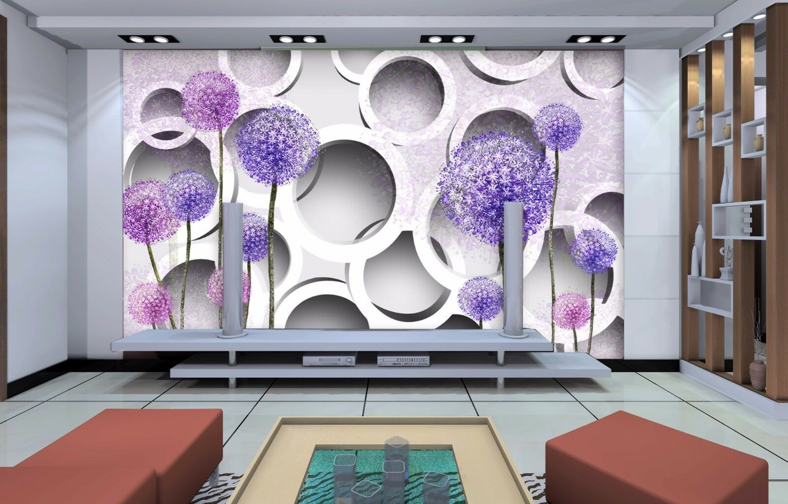 3D Farbeful flower balls  Wall Paper Print Wall Decal Deco Indoor Wall Murals