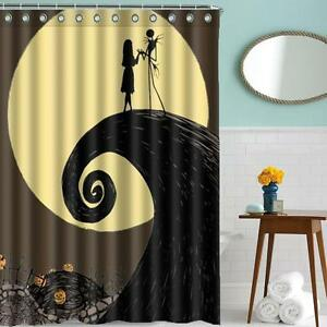 Image Is Loading UKEU Curtain Nightmare Before Christmas Jack Polyester Waterproof