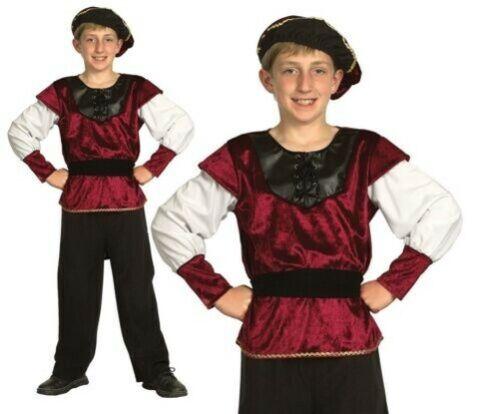 Jungen Renaissance Prinz Tudor Mittelalter Buch Woche Tag Kostüm
