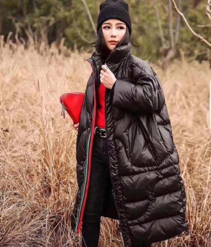 Down Bomuld Varm Jakke Kvinder Lang Vinter Overcoat Frakke Løs Casual Oversize wZnIUqR