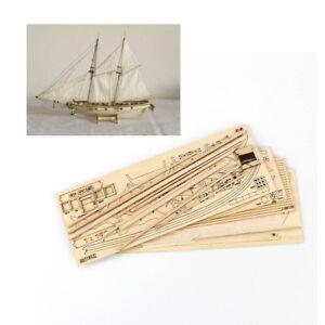 Hobby-Halcon-1840-1-100-Segelboot-Holz-Modell-Bausatz-Bootsbau-Montieren-Display