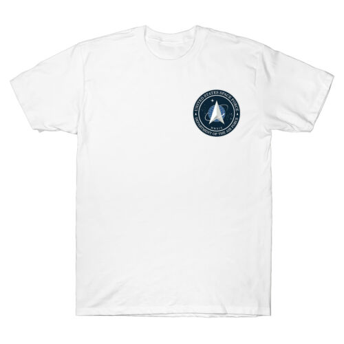 United States Space Force USSF Distressed New Logo Classic Men/'s T-Shirt Cotton