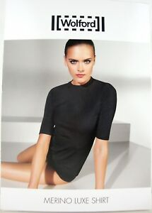 Tricot Wolford GrNero Box Avec Merino Mesdames 59666 Luxe Ovp Nouveau Shirt EDH9IW2